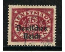 1920 - GERMANIA REICH SERVIZI - 75 p. LILLA - USATO - LOTTO/29255