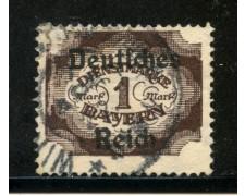 1920 - GERMANIA REICH SERVIZI - 1m. BRUNO - USATO - LOTTO/29258