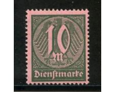 1922/23 - GERMANIA REICH SERVIZI - 10m. VERDE SCURO - NUOVO - LOTTO/29261