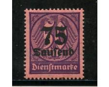 1923 - GERMANIA REICH SERVIZI -  75 su 50m. VIOLETTO SU ROSA - NUOVO - LOTTO/29265