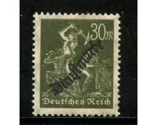 1923 - GERMANIA REICH SERVIZI - 30m. OLIVA SOPRASTAMPATO - NUOVO - LOTTO/29268