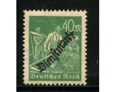 1923 - GERMANIA REICH SERVIZI - 40m. VERDE  SOPRASTAMPATO - NUOVO - LOTTO/29269