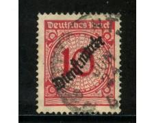 1923 - GERMANIA REICH SERVIZI - 10p. ROSSO SOPRASTAMPATO - USATO - LOTTO/29272