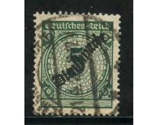 1923 - GERMANIA REICH SERVIZI - 5p. VERDE SOPRASTAMPATO - USATO - LOTTO/29273