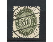 1927/28 - GERMANIA REICH SERVIZI - 30p. VERDE CIFRA IN OVALE - USATO - LOTTO/29280
