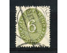 1929/33 - GERMANIA REICH SERVIZI - 6p. VERDE OLIVA CIFRA IN OVALE - USATO - LOTTO/29281