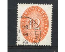 1929/33 - GERMANIA REICH SERVIZI - 12p. ROSSO ARANCIO  CIFRA IN OVALE - USATO - LOTTO/29283