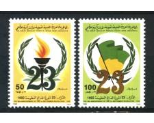 1992 - LIBIA - ANNIVERSARIO DELLA RIVOLUZIONE 2v. - NUOVI - LOTTO/29287
