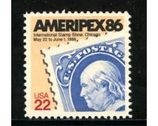 1985 - STATI UNITI - AMERIPEX 86 - NUOVO - LOTTO/29298