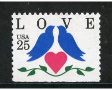 1990 - STATI UNITI - 25c. LOVE - NUOVO - LOTTO/29299