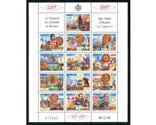 1997 - MONACO - DINASTIA DEI GRIMALDI PRINCIPI 3° - FOGLIETTO NUOVO - LOTTO/29305