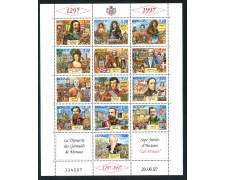 1997 - MONACO - DINASTIA DEI GRIMALDI PRINCIPI 4° - FOGLIETTO NUOVO - LOTTO/29306