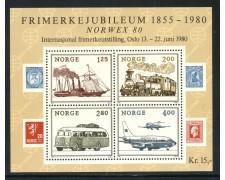 1980 - NORVEGIA - NORVEX 80 - FOGLIETTO NUOVO - LOTTO/29310