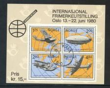 1979 - NORVEGIA - NORVEX 80 - FOGLIETTO USATO - LOTTO/29311U