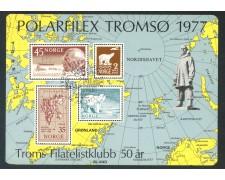 1977 - NORVEGIA - ESPOSIZ.POLARFILEX - FOGLIETTO USATO - LOTTO/29312