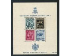 1939/40 - ROMANIA - CENTENARIO NASCITA CAROL I° - FOGLIETTO NUOVO - LOTTO/29318