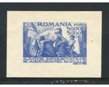 1947 - ROMANIA - ASSISTENZA SOCIALE - FOGLIETTO NUOVO - LOTTO/29322