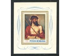 1968 - ROMANIA - ECCE HOMO DIPINTO DEL TIZIANO - FOGLIETTO NUOVO - LOTTO/29330