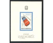 1967 - ROMANIA - OLIMPIADI INVERNALI DI GRENOBLE - FOGLIETTO NUOVO - LOTTO/29332