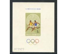 1968 - ROMANIA - OLIMPIADI DEL MESSICO - FOGLIETTO NUOVO - LOTTO/29333