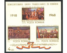 1968 - ROMANIA - ANNESSIONE DELLA TRANSILVANIA - FOGLIETTO NUOVO - LOTTO/29334