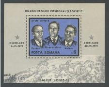 1971 - ROMANIA - OMAGGIO AI COSMONAUTI - FOGLIETTO USATO - LOTTO/29340