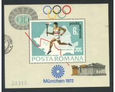 1971 - ROMANIA - OLIMPIADI DI MONACO - FOGLIETTO USATO - LOTTO/29345