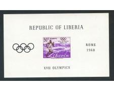 1960 - LIBERIA - OLIMPIADI DI ROMA - FOGLIETTO NUOVO - LOTTO/29354