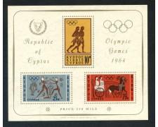 1964 - CIPRO - OLIMPIADI DI TOKIO - FOGLIETTO NUOVO - LOTTO/29384