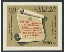 1968 - CIPRO - DIRITTI DELL'UOMO - FOGLIETTO NUOVO - LOTTO/29387