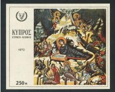 1972 - CIPRO - NATALE PITTURE SACRE - FOGLIETTO NUOVO - LOTTO/29389