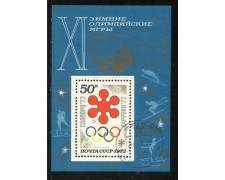 1972 - RUSSIA - OLIMPIADI DI SAPPORO - FOGLIETTO USATO - LOTTO/29422