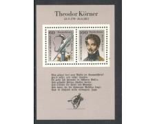1991 - GERMANIA FEDERALE - THEODOR KORNER - FOGLIETTO NUOVO - LOTTO/29487