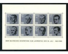 1964 - GERMANIA - 20° ANNIVERSARIO ATTENTATO FOGLIETTO NUOVO - LOTTO/29488