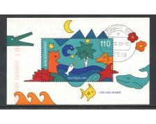 1998 - GERMANIA FEDERALE - PER NOI BAMBINI - FOGLIETTO USATO - LOTTO/29494
