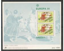 1981 - MADERA - EUROPA - FOGLIETTO NUOVO - LOTTO/29512