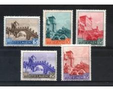 1955 - SAN MARINO - VEDUTE 5v. - NUOVI - LOTTO/29564