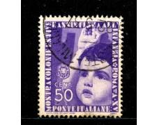 1937 - REGNO - 50c. MOSTRA COLONIE ESTIVE - USATO - LOTTO/29573