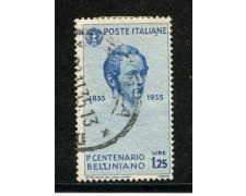 1935 - REGNO - 1,25 VINCENZO BELLINI - USATO - LOTTO/29576