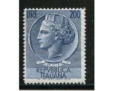 1954 - REPUBBLICA - 200 LIRE SIRACUSANA - LING. - LOTTO/29578