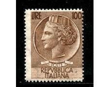 1955 - REPUBBLICA - 100 LIRE SIRACUSANA - LING. - LOTTO/29579