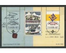 1993 - ALAND - INDIPENDENZA POSTALE - FOGLIETTO USATO - LOTTO/29586
