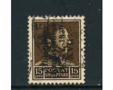 1939 - ALBANIA ITALIANA -15q. ASSEMBLEA COSTITUENTE - USATO - LOTTO/29595