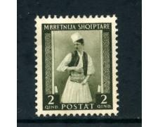 1939/40 - ALBANIA ITALIANA - 2q. COSTUME ALBANESE - LING. - LOTTO/29596