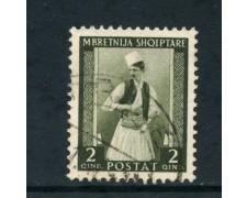 1939/40 - ALBANIA ITALIANA - 2q. COSTUME ALBANESE - USATO - LOTTO/29597