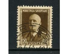 1939/40 - ALBANIA ITALIANA - 10q. RE VITTORIO EMANUELE - USATO - LOTTO/29600