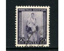 1939/40 - ALBANIA ITALIANA - 50q. COSTUME ALBANESE - USATO - LOTTO/29604