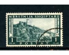 1939/40 - ALBANIA ITALIANA - 1f. PAESAGGIO - USATO - LOTTO/29606
