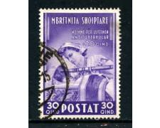 1943 - ALBANIA ITALIANA - 30q. OPERE ANTITUBERCOLARI - USATO - LOTTO/29612