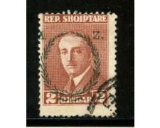 1927 - ALBANIA - 2q. BRUNO AHMED ZOGOU SOPRASTAMPATO - USATO - LOTTO/29626
